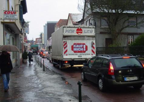 Frankfurter Strasse am 28. Januar 2010 morgens