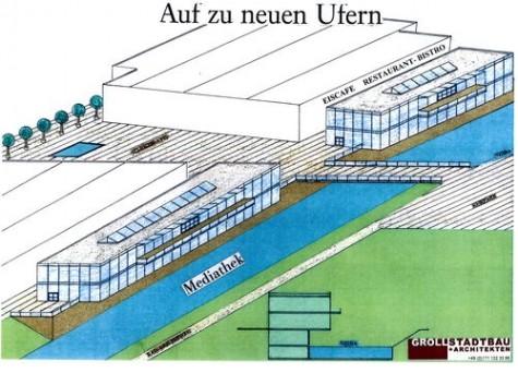 """SPD-unterstützter Entwurf """"Neue Mitte""""' von Arch. Karl-Heinz Groll"""